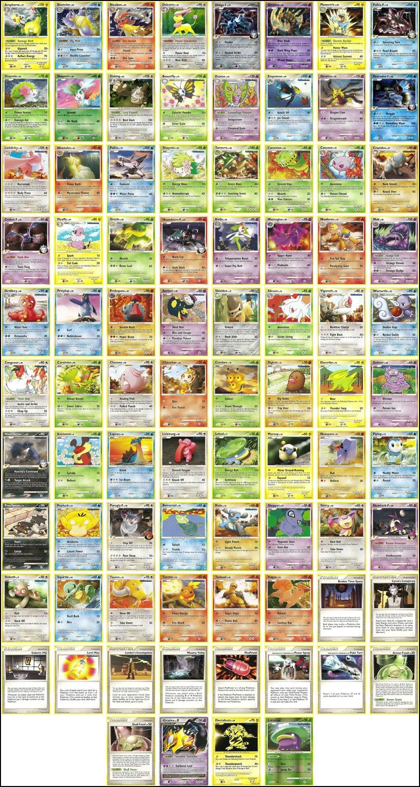 Tcg a la d couverte du set platinum avec 84 scans - Coloriage de carte pokemon ...