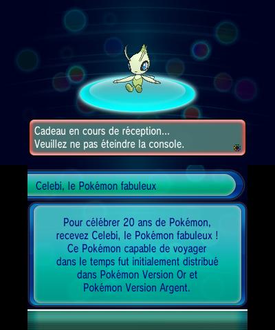Pokemon20: Celebi est disponible au téléchargement --- News du ...