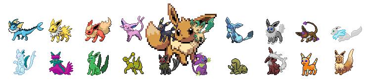 Espace membre de pok bip partagez - Famille evoli pokemon ...