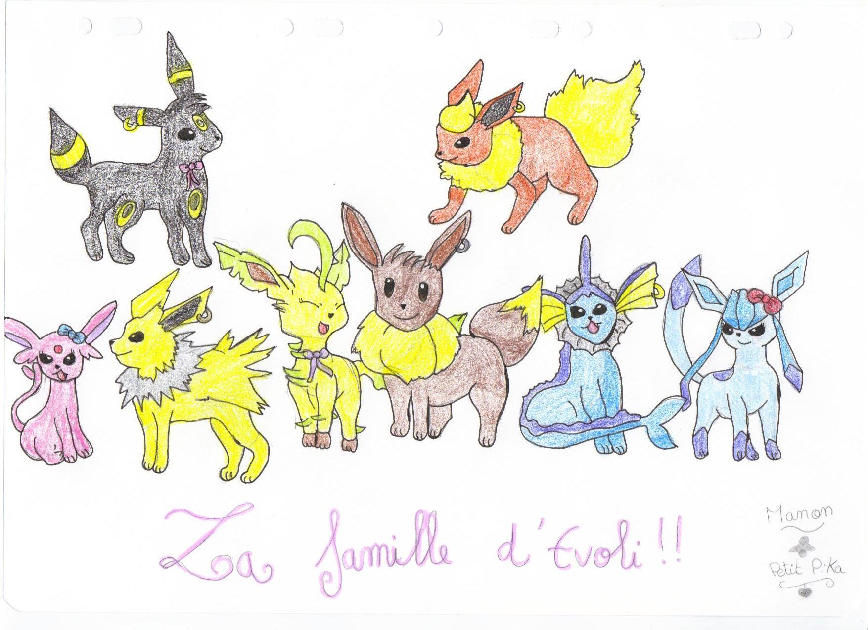 Espace membre galerie de petit pika - Famille evoli pokemon ...