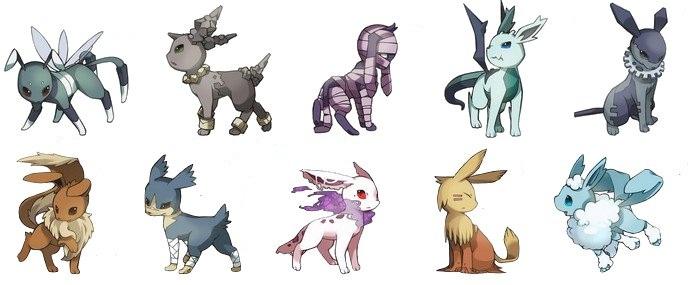 Espace membre cr ation evoli et sa famille - Pokemon famille d evoli ...