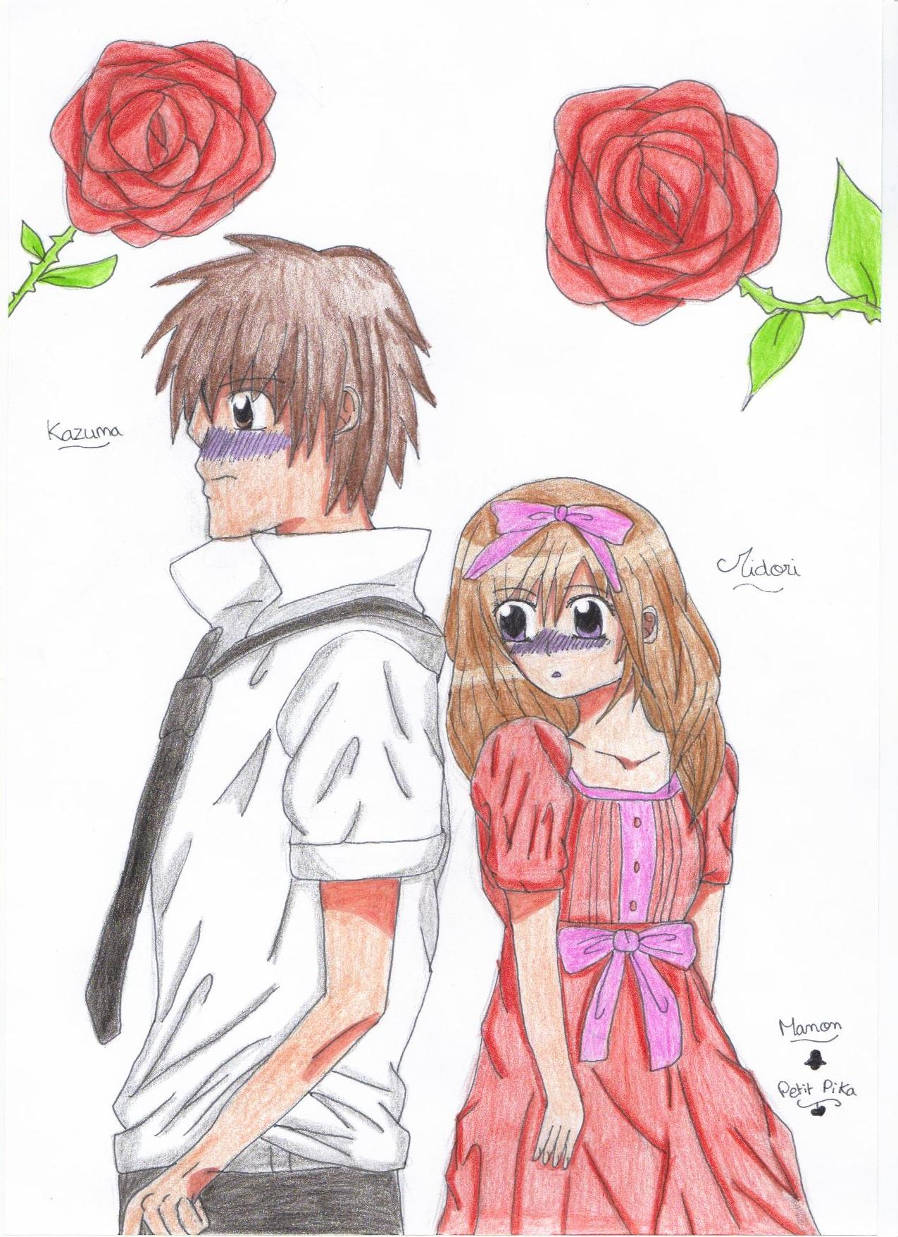dessin manga st valentin