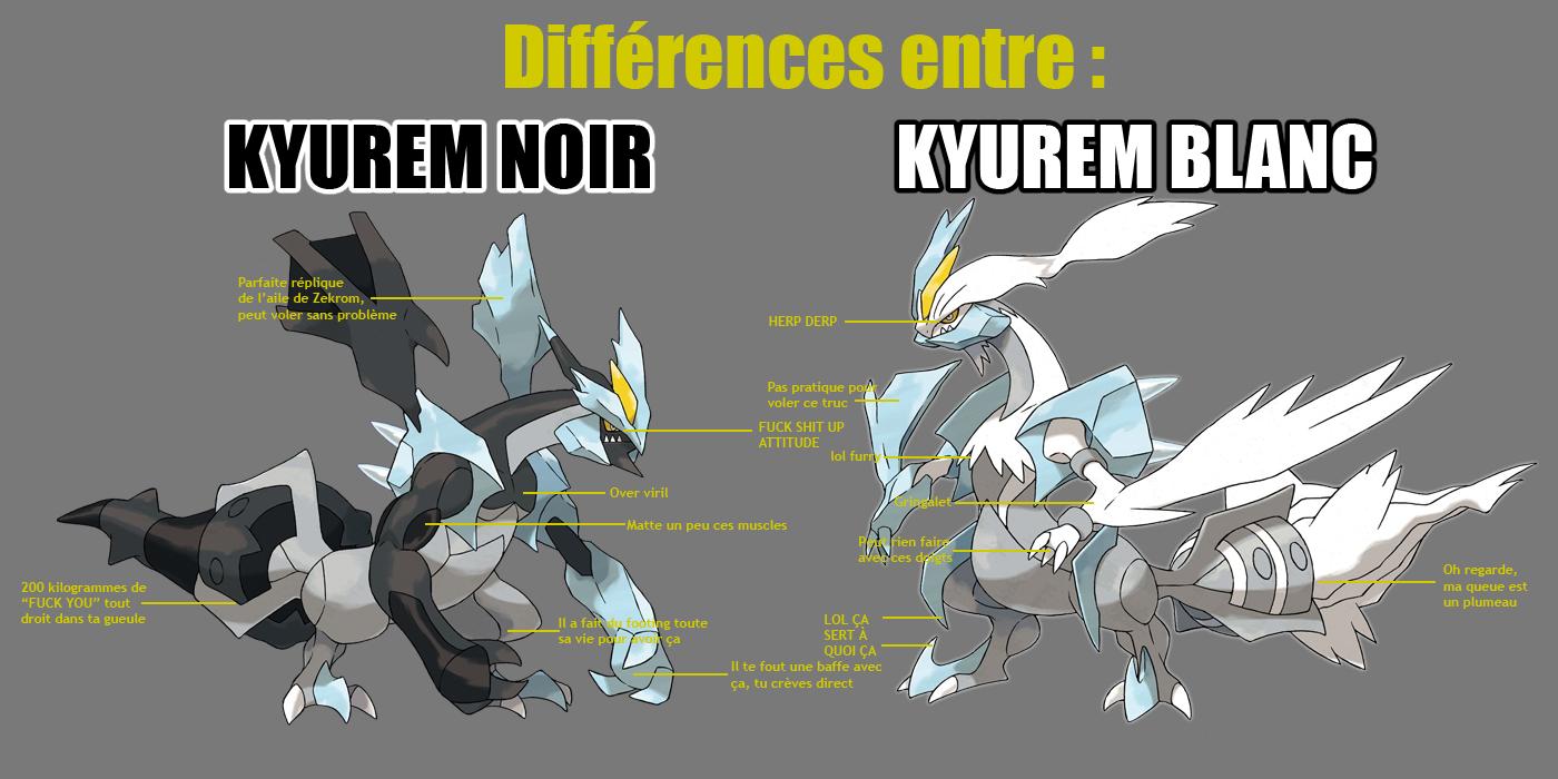 Espace membre cr ation difference entre kyurem noir et - Pokemon kyurem blanc ...