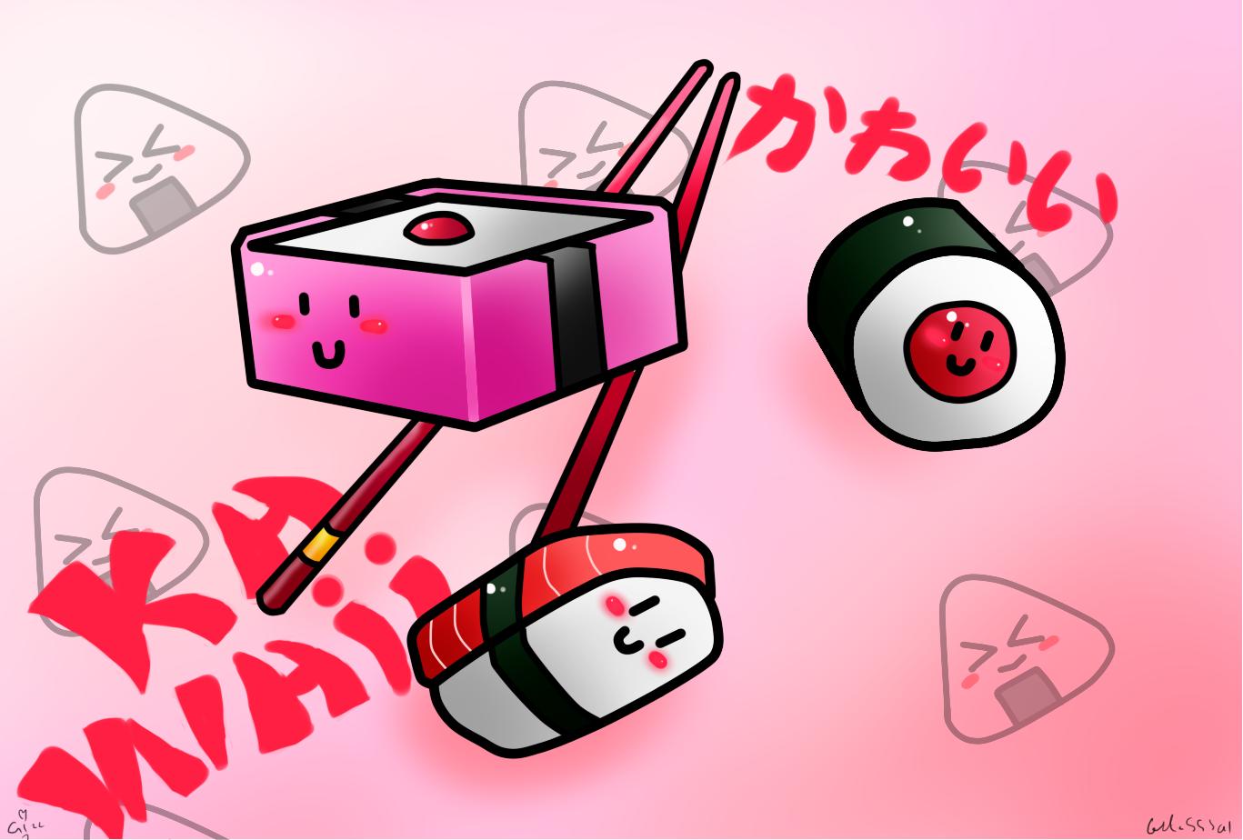 Espace Membre > Création : sushi bento maki kawaii onigiri 8D