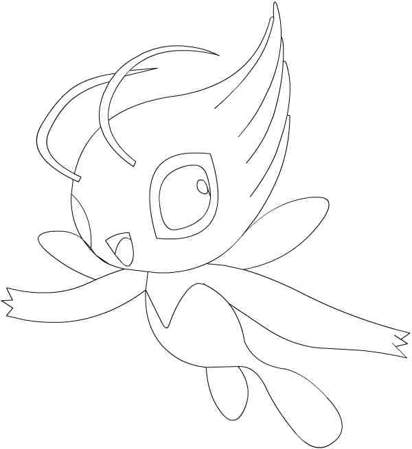 pokemon celebi coloring pages - photo#9