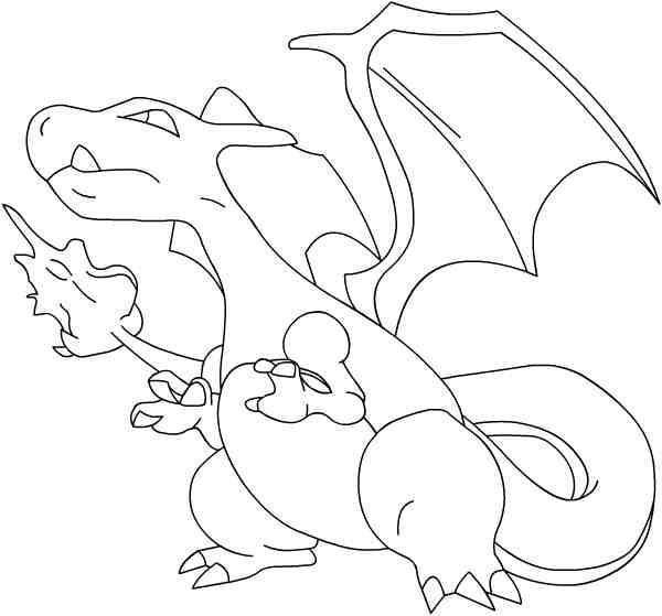 Dessin a colorier pokemon - Dracaufeu coloriage ...