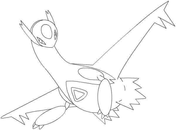 mega latios coloring pages sketch templates