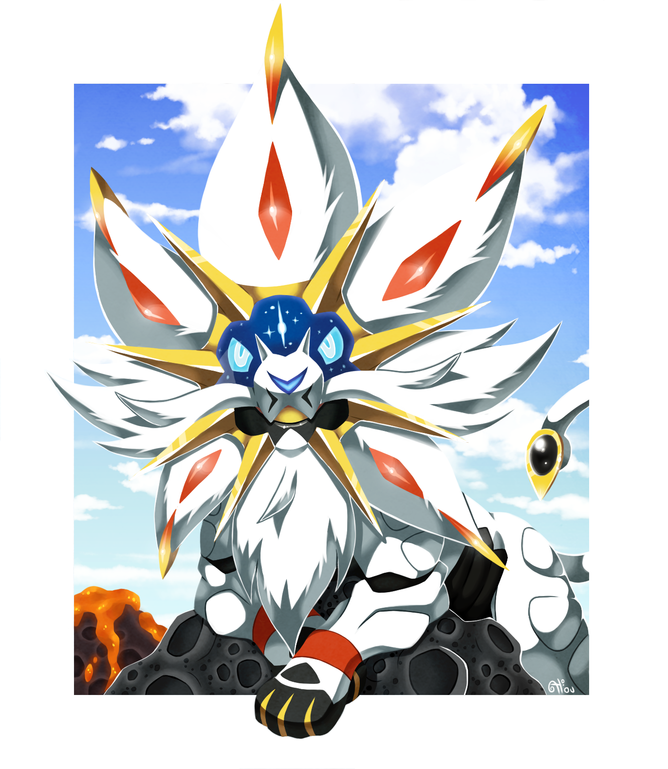 Vitrines des galeries s lection dessin digital de 2016 - Evolution pokemon legendaire ...