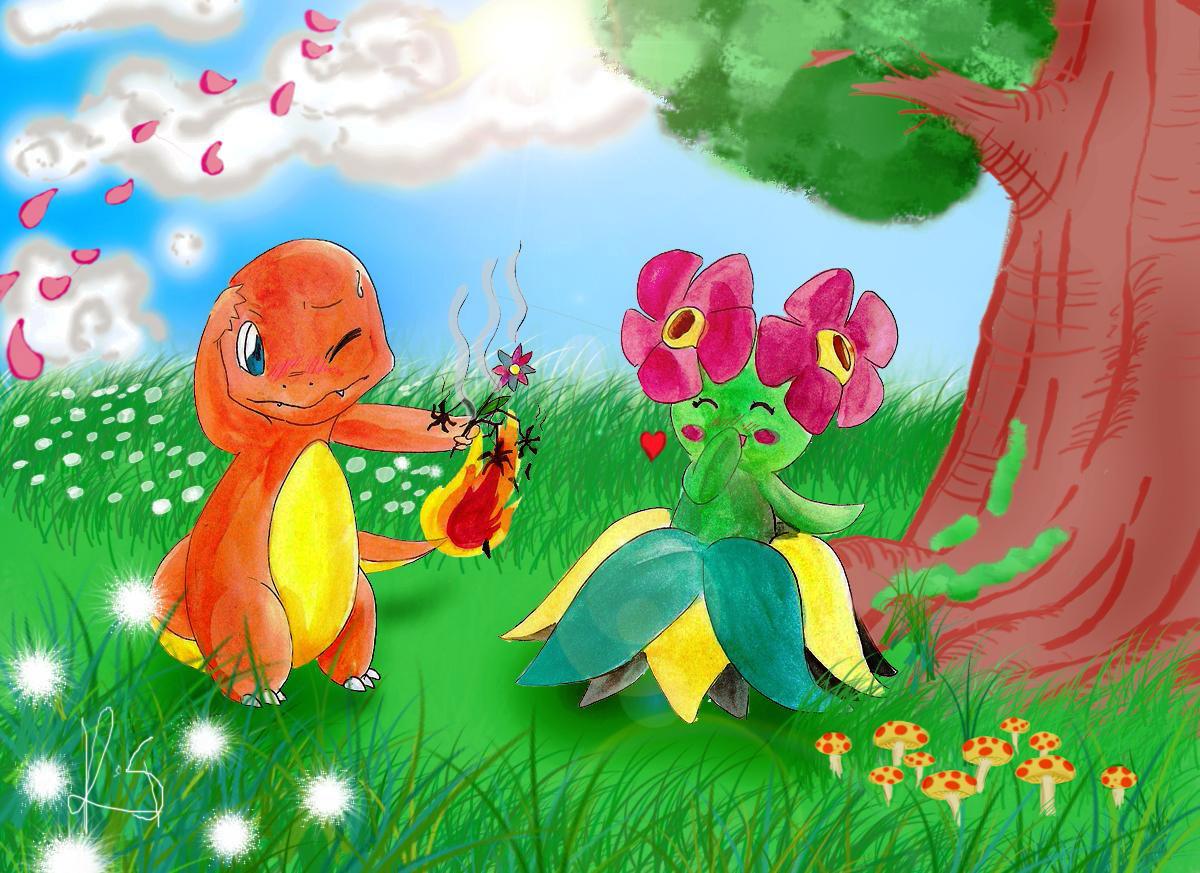 Concours de fanarts printemps 2009 pok bip - Dessin de printemps ...