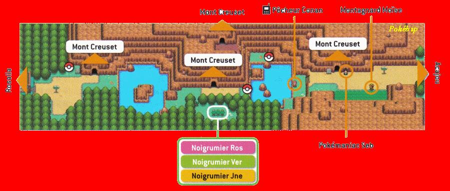Pok mon or heartgold et argent soulsilver guide des lieux route 42 pok - Pokemon ferosinge ...