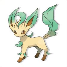 Fiche pok dex de phyllali leafeon leafia versions - Evolution flamajou ...