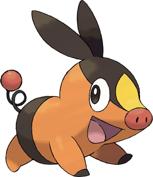 Fiche pok dex de gruikui tepig pokabu versions noire - Evolution flamajou ...